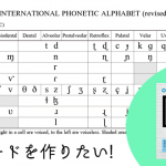 IPAカードを作り、音声学の魅力を広めたい!- あらゆる言語の音声を記述する