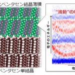 """有機太陽電池の弱点を克服するには? – 電子も正孔も""""波動""""の性質をもつ有機分子結晶の界面をつくる"""